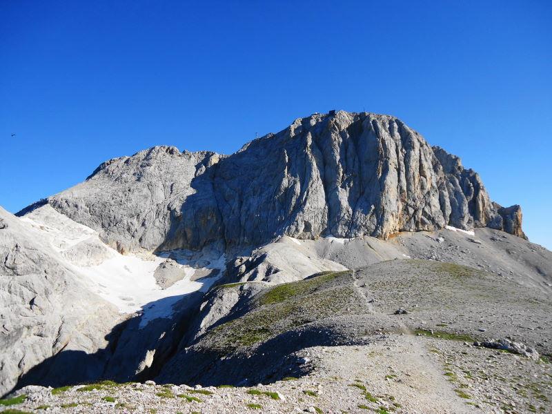 Foto: Günter Siegl / Klettersteig Tour / Irg – Klettersteig auf den Koppenkarstein / Die Koppenkarstein-Wand! / 24.08.2015 10:40:53