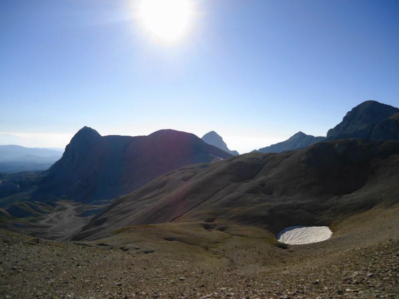 Foto: Günter Siegl / Klettersteig Tour / Irg – Klettersteig auf den Koppenkarstein / Landfriedstein und dahinter der Eselstein / 24.08.2015 10:40:31