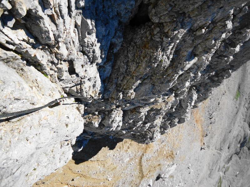 Foto: Günter Siegl / Klettersteig Tour / Irg – Klettersteig auf den Koppenkarstein / Im unteren Drittel sehr ausgesetzt / 24.08.2015 10:39:26