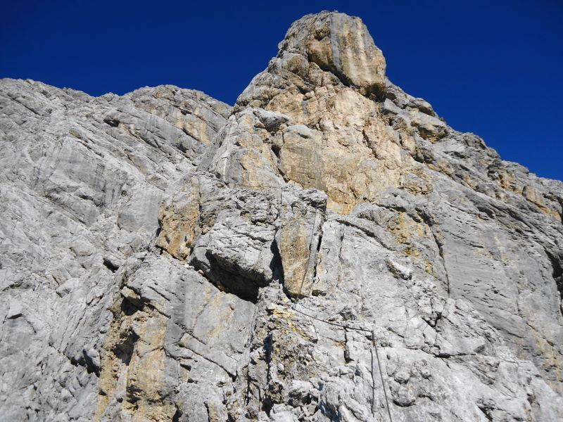 Foto: Günter Siegl / Klettersteig Tour / Irg – Klettersteig auf den Koppenkarstein / Letzte D-Wandstelle / 24.08.2015 10:37:41