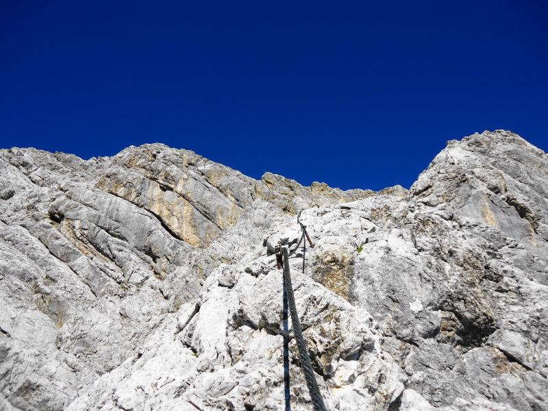 Foto: Günter Siegl / Klettersteig Tour / Irg – Klettersteig auf den Koppenkarstein / Nach oben hin wird der Klettersteig bedeutend leichter und sehr genussreich. / 24.08.2015 10:37:00