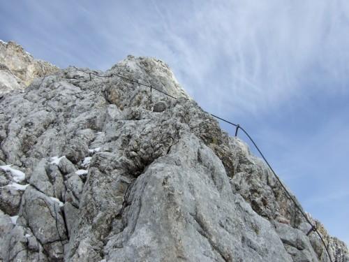 Foto: hofchri / Klettersteig Tour / Irg – Klettersteig auf den Koppenkarstein / im dem dicken Seil nach / 20.07.2009 21:45:27