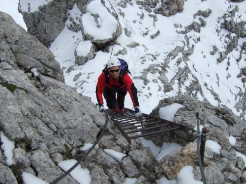 Foto: hofchri / Klettersteig Tour / Irg – Klettersteig auf den Koppenkarstein / Leiternpassage / 20.07.2009 21:49:34