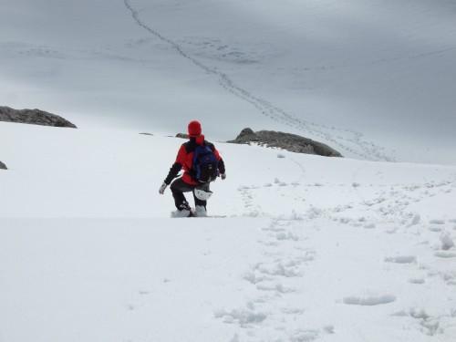 Foto: hofchri / Klettersteig Tour / Irg – Klettersteig auf den Koppenkarstein / Schneeabfahrt - bie hartem Firn aber heikel! / 20.07.2009 21:19:38