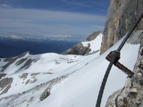 Foto: hofchri / Klettersteig Tour / Irg – Klettersteig auf den Koppenkarstein / der Großglockner im Hintergrund / 20.07.2009 21:20:41