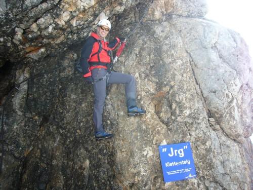 Foto: hofchri / Klettersteig Tour / Irg – Klettersteig auf den Koppenkarstein / endlich den Einstieg gefunden / 20.07.2009 21:26:05