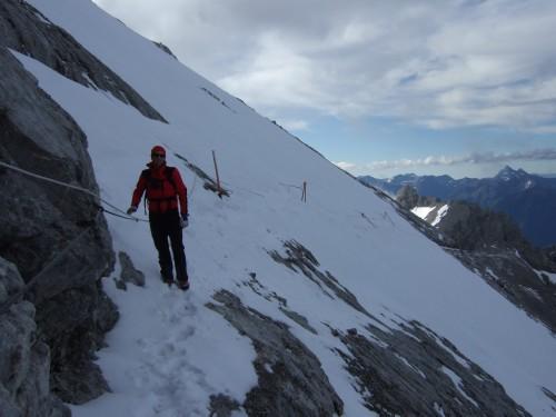 Foto: hofchri / Klettersteig Tour / Irg – Klettersteig auf den Koppenkarstein / viel Schnee noch heute (12. Juli!) - Quergang kann unangenehm werden / 20.07.2009 21:18:05
