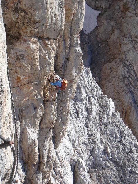 Foto: Manfred Karl / Klettersteig Tour / Irg – Klettersteig auf den Koppenkarstein / Klettersteigfreak in action 2 / 22.01.2009 22:08:37