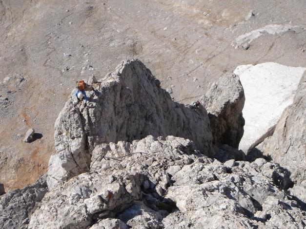 Foto: Manfred Karl / Klettersteig Tour / Irg – Klettersteig auf den Koppenkarstein / Luftiger Gratteil / 22.01.2009 22:05:49