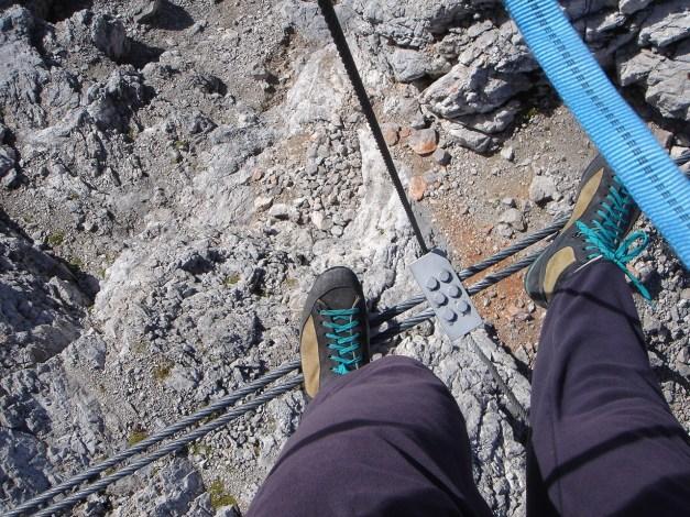 Foto: Manfred Karl / Klettersteig Tour / Irg – Klettersteig auf den Koppenkarstein / Ein tiefer Blick / 22.01.2009 22:00:05