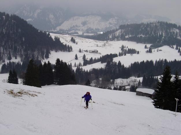 Foto: Manfred Karl / Ski Tour / Wertacher Hörnle, 1685m bzw 1695m / Auch bei geringer Schneelage geht das Hörnle ganz gut / 22.01.2009 22:30:02