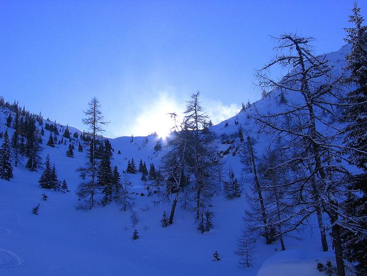 Foto: Andreas Koller / Ski Tour / Über den Leobner (2036m) / Das Leobner Törl / 25.01.2009 23:48:21