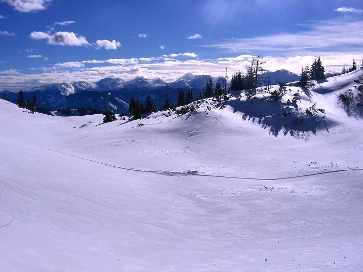 Foto: Andreas Koller / Ski Tour / Über den Leobner (2036m) / Niedere Tauern / 25.01.2009 23:44:05