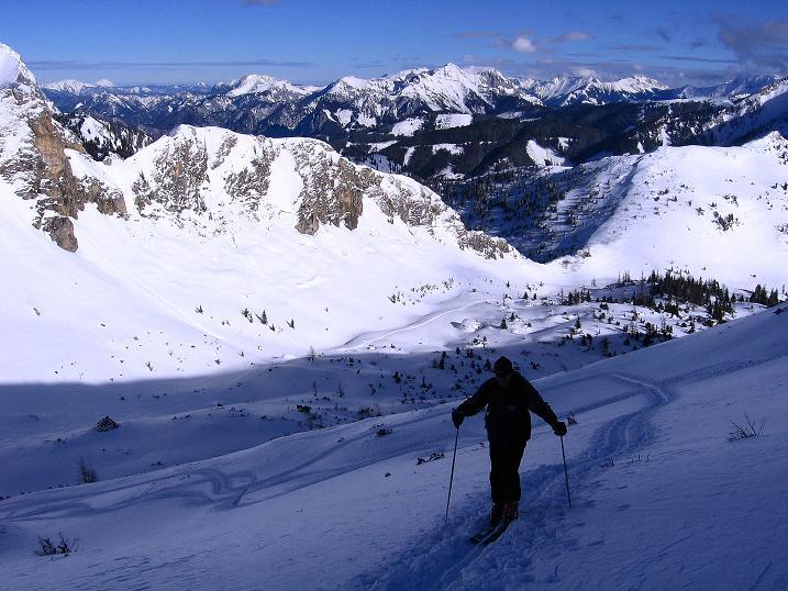 Foto: Andreas Koller / Ski Tour / Über den Leobner (2036m) / In der Steilstufe über dem Kar / 25.01.2009 23:40:57