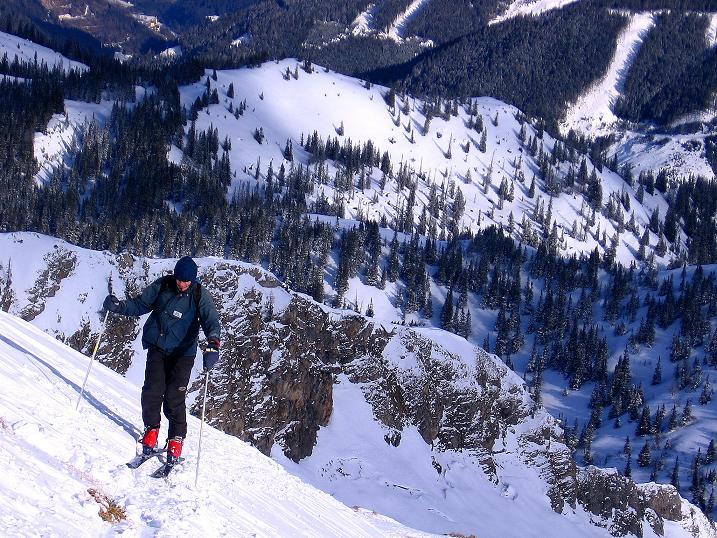 Foto: Andreas Koller / Ski Tour / Über den Leobner (2036m) / Der letzte Steilanstieg zum Gipfel / 25.01.2009 23:38:44