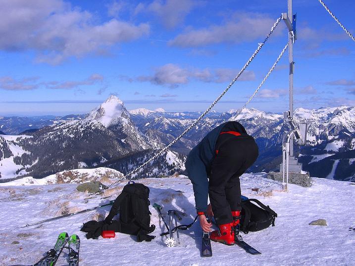 Foto: Andreas Koller / Ski Tour / Über den Leobner (2036m) / Blick vom Leobner nach NW / 25.01.2009 23:37:33