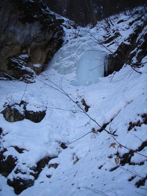 Foto: Manfred Karl / Ski Tour / Vom Gasthof Winkelmoos auf den Karstein / Auch die Querung der kleinen Gräben im Wald kann mitunter vereist sein! / 26.01.2009 20:31:59