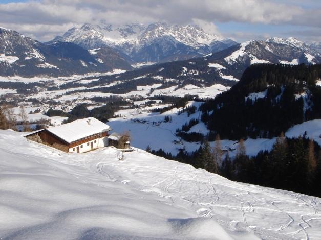 Foto: Manfred Karl / Ski Tour / Vom Gasthof Winkelmoos auf den Karstein / Huschenalm / 26.01.2009 20:30:43