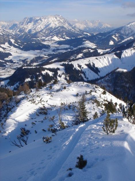 Foto: Manfred Karl / Ski Tour / Vom Gasthof Winkelmoos auf den Karstein / Schöner Anstieg am Grat entlang / 26.01.2009 20:24:51