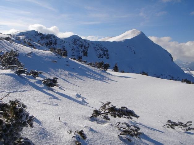 Foto: Manfred Karl / Ski Tour / Vom Gasthof Winkelmoos auf den Karstein / Aussichtsreicher Anstieg auf dem Gipfelkamm / 26.01.2009 20:22:56
