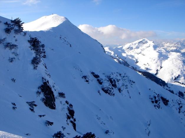 Foto: Manfred Karl / Ski Tour / Vom Gasthof Winkelmoos auf den Karstein / Einfahrt ins Nordkar / 26.01.2009 20:21:41