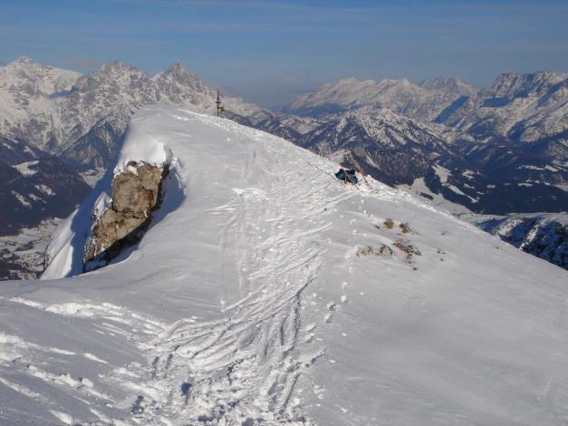 Foto: Manfred Karl / Ski Tour / Vom Gasthof Winkelmoos auf den Karstein / Loferer - Leoganger Steinberge, dazwischen Berchtesgadener Alpen / 26.01.2009 20:17:54
