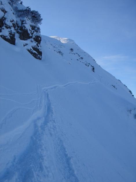 Foto: Manfred Karl / Ski Tour / Vom Gasthof Winkelmoos auf den Karstein / Steile Querung ins Nordkar / 26.01.2009 20:15:29