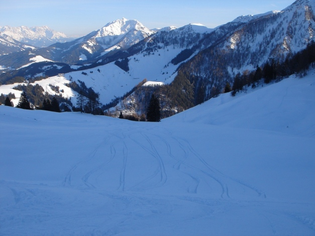 Foto: Manfred Karl / Ski Tour / Vom Gasthof Winkelmoos auf den Karstein / Bei der Edenhausenalm / 26.01.2009 20:13:33