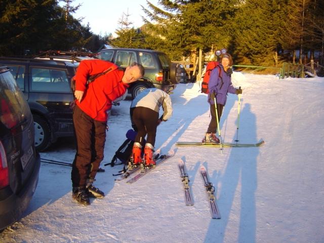 Foto: Manfred Karl / Ski Tour / Schöpfing (2143m) / Start in Wald / 26.01.2009 21:38:34