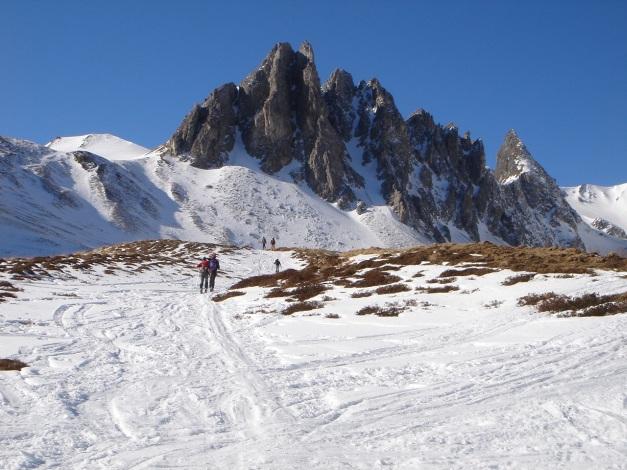 Foto: Manfred Karl / Ski Tour / Durch die Hölle auf das Weißeck / Die Felszacken der Kempenköpfl / 26.01.2009 22:15:49