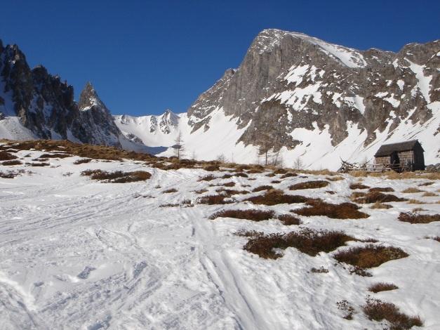 Foto: Manfred Karl / Ski Tour / Durch die Hölle auf das Weißeck / Am Eingang zur Hölle / 26.01.2009 22:14:54