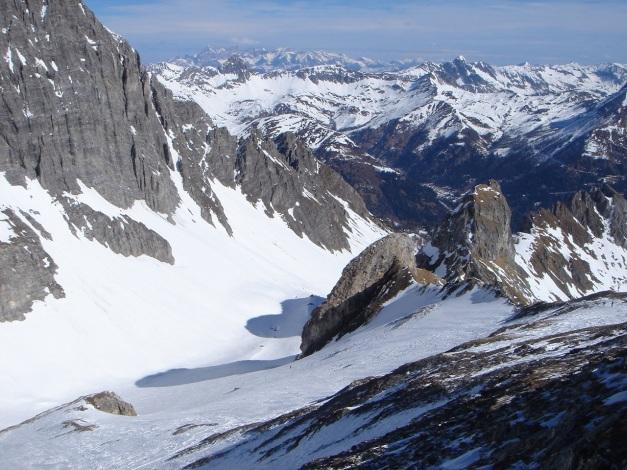Foto: Manfred Karl / Ski Tour / Durch die Hölle auf das Weißeck / Oberer Teil der Hölle von der Felskarspitze aus gesehen / 26.01.2009 22:12:38