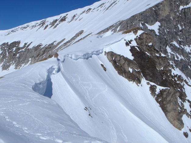 Foto: Manfred Karl / Ski Tour / Durch die Hölle auf das Weißeck / Am Weg zum Weißeck Südgrat / 26.01.2009 22:12:10