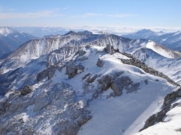 Foto: Manfred Karl / Ski Tour / Durch die Hölle auf das Weißeck / Weißeck - Blick nach Südosten / 26.01.2009 22:06:36