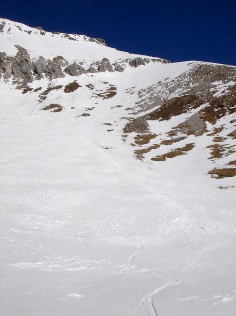 Foto: Manfred Karl / Ski Tour / Durch die Hölle auf das Weißeck / Weißeck Südflanke / 26.01.2009 22:05:51