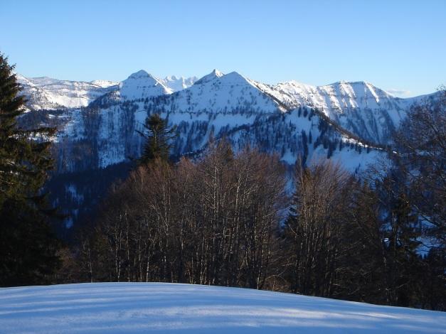 Foto: Manfred Karl / Ski Tour / Grobriedel (1473m) / Die Paradegipfel der Osterhorngruppe mit ihren steilen Nordabfahrten / 27.01.2009 06:37:39