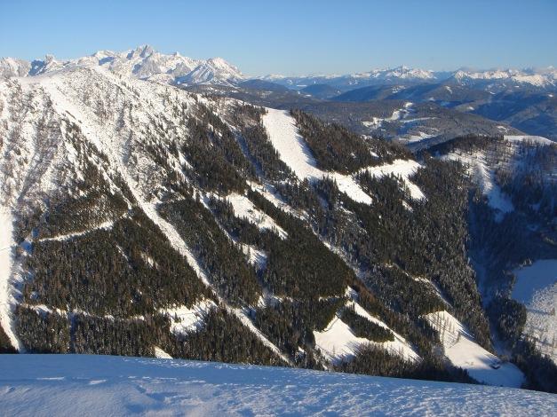 Foto: Manfred Karl / Ski Tour / Aus der Zaglau auf die Bischlinghöhe / Blick zum Dachstein und in die Niederen Tauern / 27.01.2009 07:04:58