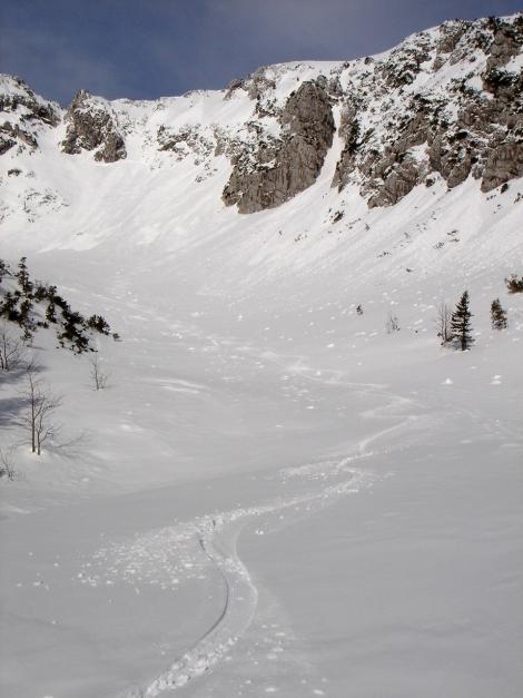 Foto: Manfred Karl / Ski Tour / Zwieselstaufen von Jochberg / Im Kar zwischen Gamsknogl und Zwiesel / 27.01.2009 07:34:58
