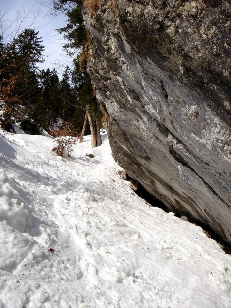 Foto: Manfred Karl / Ski Tour / Zwieselstaufen von Jochberg / Engstelle / 27.01.2009 07:34:06