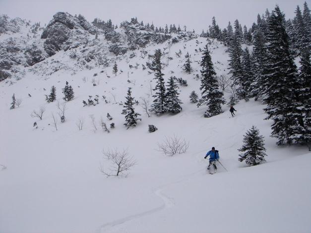 Foto: Manfred Karl / Ski Tour / Zwieselstaufen von Jochberg / Oberer Teil der Rinne / 27.01.2009 07:31:31