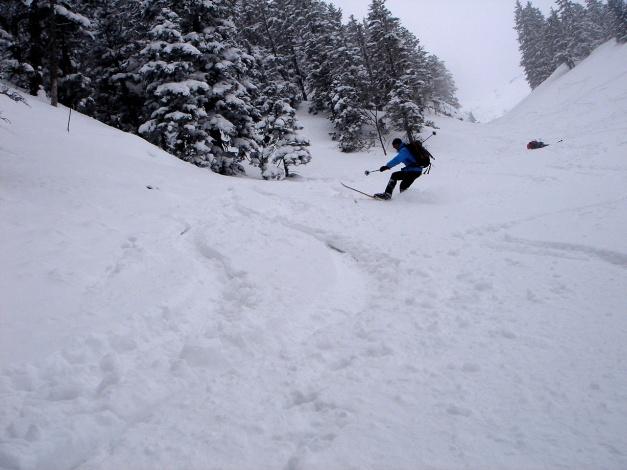 Foto: Manfred Karl / Ski Tour / Zwieselstaufen von Jochberg / Akrobatik / 27.01.2009 07:31:06