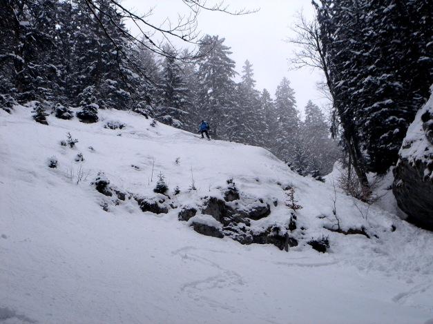 Foto: Manfred Karl / Ski Tour / Zwieselstaufen von Jochberg / Umfahrung der Engstelle / 27.01.2009 07:29:21
