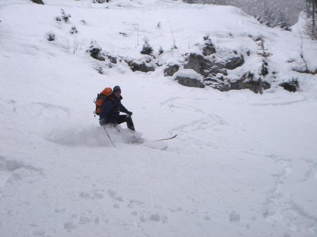 Foto: Manfred Karl / Ski Tour / Zwieselstaufen von Jochberg / Stehvermögen - es wurde kein Sturz! / 27.01.2009 07:28:57