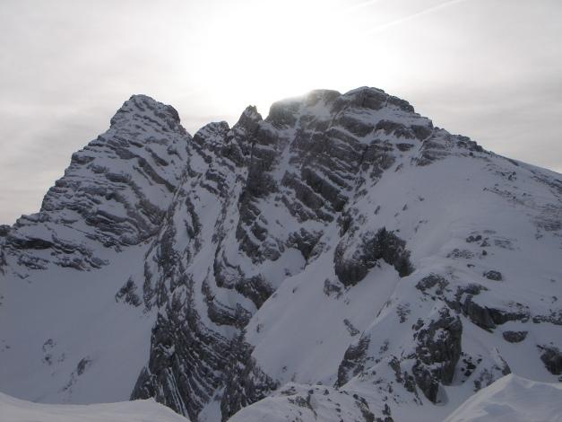Foto: Manfred Karl / Ski Tour / Vorderberghörndl (2082m) / Gratzug über das Hinterberghorn Richtung Hocheisspitze (von hier nicht sichtbar) / 27.01.2009 07:53:46