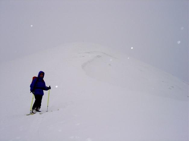 Foto: Manfred Karl / Ski Tour / Joch (2052m) / Sehr diffuse Sicht im oberen Bereich - etwas Vorsicht ist dann geboten / 28.01.2009 14:23:58