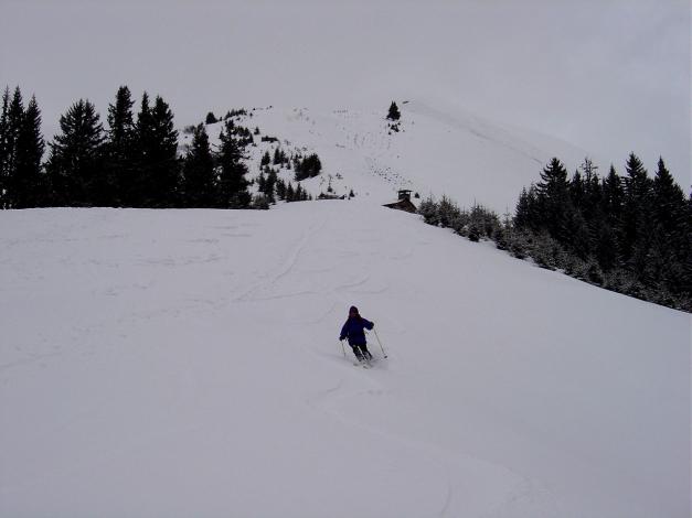 Foto: Manfred Karl / Ski Tour / Joch (2052m) / Das Joch bietet eine zwar kurze, aber doch zügige Abfahrt / 28.01.2009 14:21:52