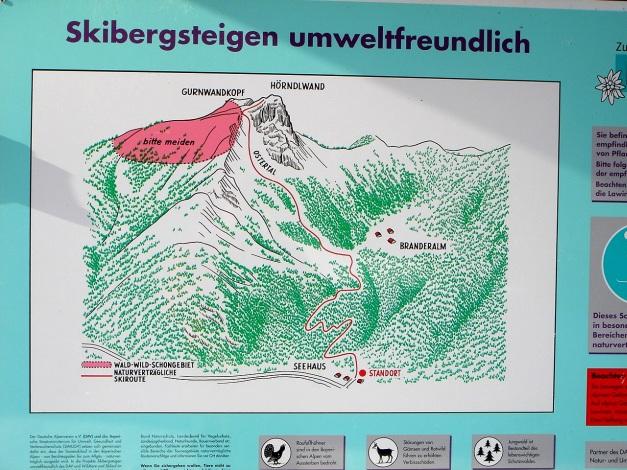 Foto: Manfred Karl / Ski Tour / Durch das Ostertal auf die Hörndlwand / Diese Hinweise sollten im gegenseitigen Interesse schon beachtet werden! / 28.01.2009 22:24:28