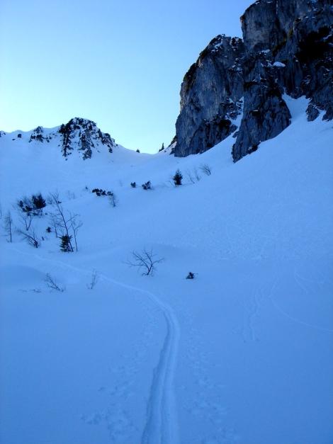 Foto: Manfred Karl / Ski Tour / Durch das Ostertal auf die Hörndlwand / Ein schönes Kar / 28.01.2009 22:22:39