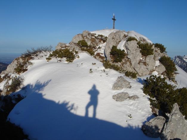 Foto: Manfred Karl / Ski Tour / Durch das Ostertal auf die Hörndlwand / Gipfelkreuz Nr. 2 / 28.01.2009 22:20:37