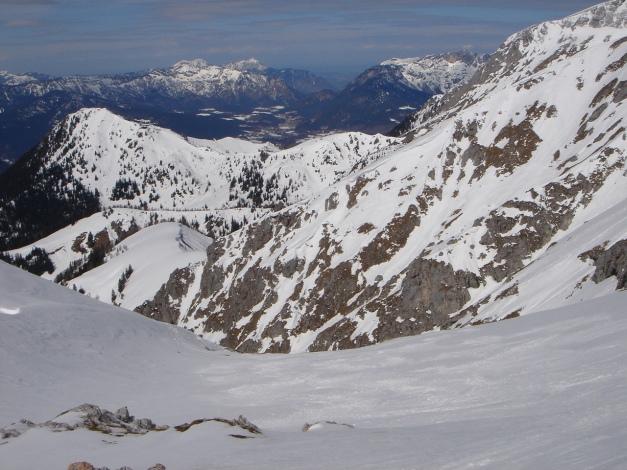 Foto: Manfred Karl / Ski Tour / Schneibstein, Bockskehl Abfahrt / Einfahrt in die Bockskehl / 28.01.2009 22:53:54